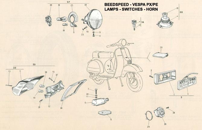 Wiring Diagram For Vespa P200e : Vespa electrical p e agusjakaswara s